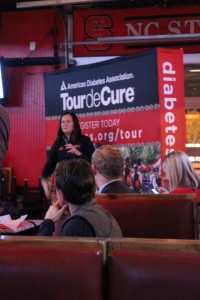 Speaking at a Tour de Cure Kick Off Event