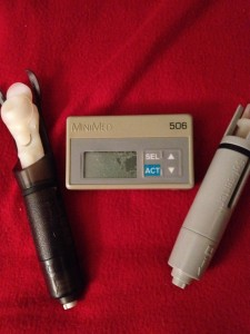 This is my first insulin pump, the MiniMed 506. I got it in 1994. I've been wearing a pump for 20 years.