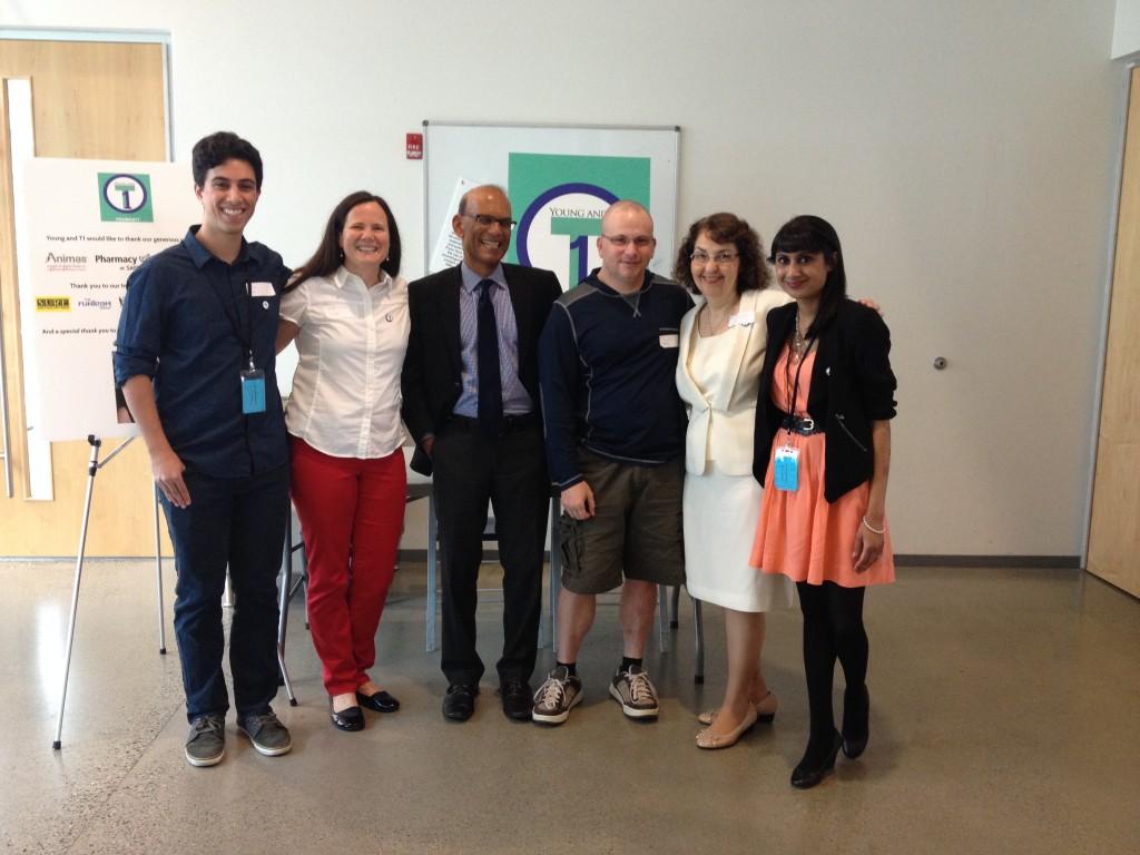 Ben, Mari, Dr. Brian, Tony, Dr. Bev & Ramya at Young & T1 Conference