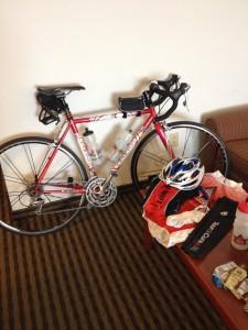 My fabulous steel LeMond, ready to go!