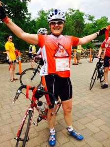 At the end of the Tour de Cure Twin Cities!