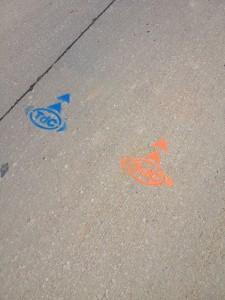 tour road marking Iowa