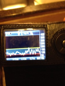 Continuous Glucose Monitor, Dexcom G4, Day of Tour de Tonka 2014