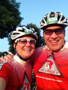 Mari & Ramsey at the start of the Tour de Tonka 2014