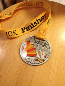 Turkey Trot 2014 medal