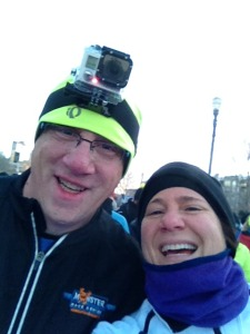 Doug and me at Race Start! Doug had the GoPro on!!