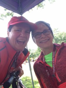 Me and Helen laughing at Tour de Cure Twin Cities 2016!